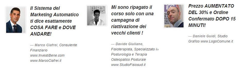 Marketing a Risposta Diretta - Testimonianze