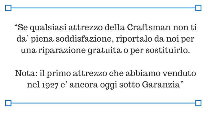 Craftsman_garanzia