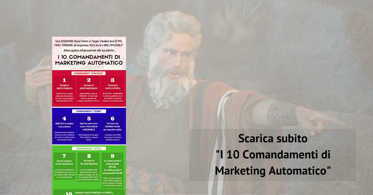 0fa98add82ed Vendere di più - I 10 Comandamenti di Marketing Automatico  SCARICA  L INFOGRAFICA