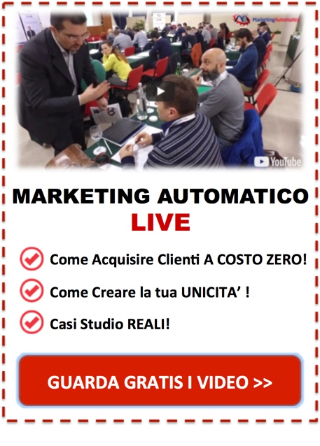 Marketing Automatico Live - Estratti Video GRATIS