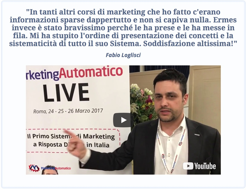 Marketing Automatico - Opinione Fabio Loglisci