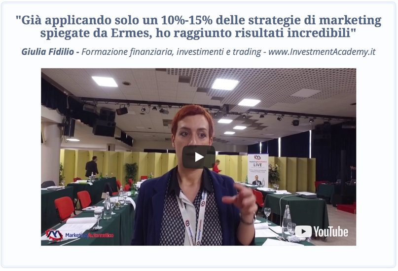 Marketing Automatico - Opinione Giulia Fidilio